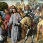 Peter Cuts Off a Servant's Ear and Jesus Heals Him