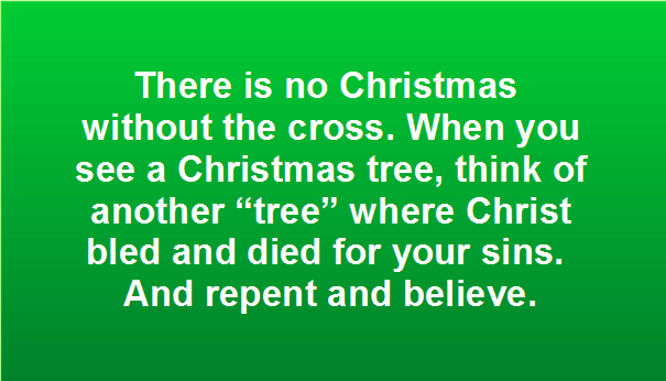 No Christmas Without Cross