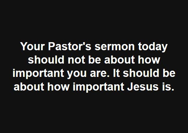 Pastor's Sermon Today