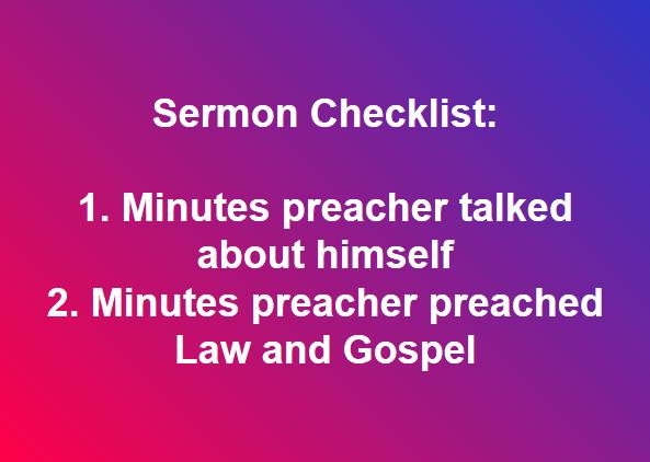 Sermon Checklist