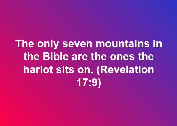 Seven Mountains in the Bible