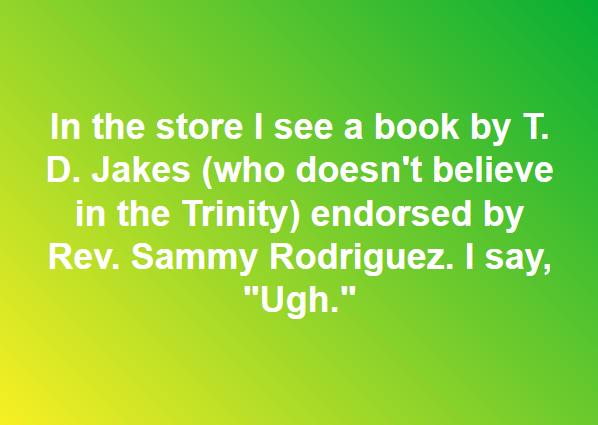 TD Jakes Endorsed by Sammy Rodriguez